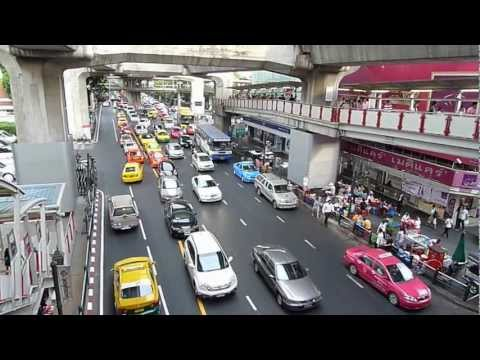 Sticky Traffic at SIAM Paragon Skytrain Station Bangkok