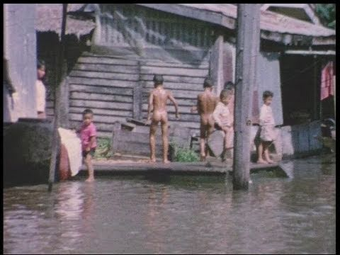 Cruise along Bangkok's river in 1964