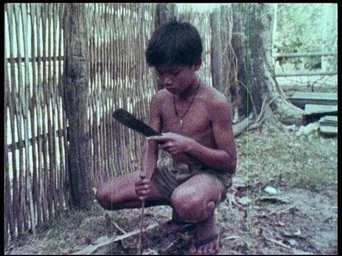 Thailand, native children in 1977