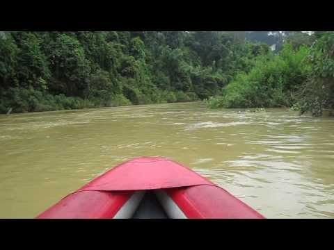 Canoeing down the River in Thailand