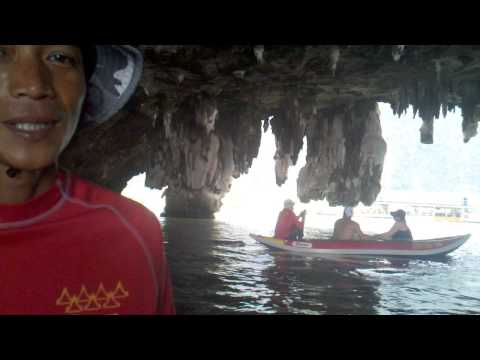 Canoeing in Caves in Phang Nga Bay