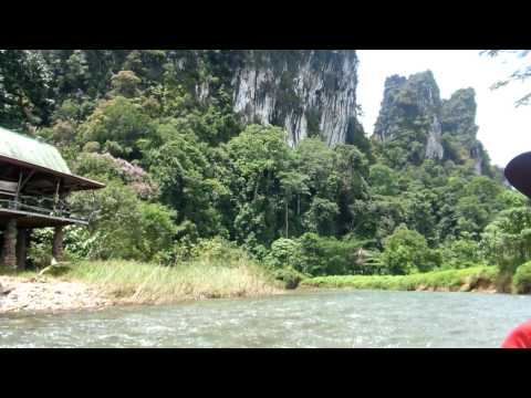 Canoeing in the Khao Sok National Park